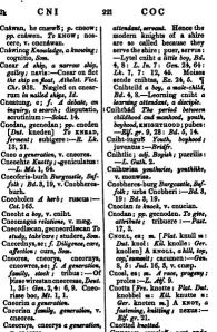 A page from A Dictionary of the Anglo-Saxon Language, from wikimedia