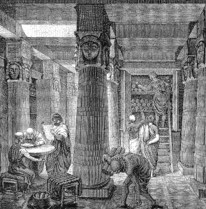 An artist's rendering of the Library of Alexandria wikimedia
