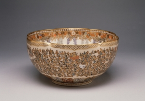 """Bowl with a Multitude of Women"" by Yabu Meisan. I now feel I must write a poem titled after this bowl, as well as its opposite: ""Woman with a Multitude of Bowls."" wikimedia"
