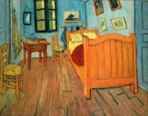 "Vincent's ""Bedroom in Arles."" Look's pretty cozy to me."