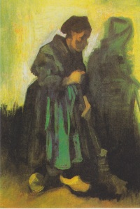 Peasant Woman Sweeping the Floor, Vincent Van Gogh, wikimedia