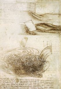 Studies of Water Passing Obstacles and Falling -- from Leonardo da Vinci's notebooks via wikimedia