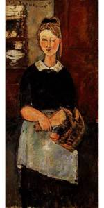 """The Pretty Housewife"" by Amedeo Modigliani"