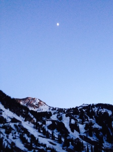 Moon over the Wasatch