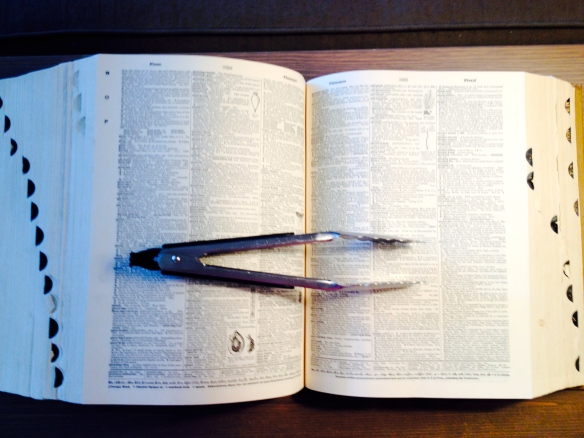 Dictionary with Kitchen Tongs
