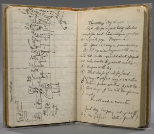 Harold Miller Lewis (1893-1978).  Laboratory notebook, recording Edwin H. Armstrong's discovery of superheterodyne reception. Kinda makes me glad I'm just a poet.
