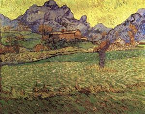 Vincent: A Meadow in the Mountains - Les Mas de Saint-Paul. wikimedia