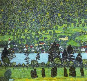 "Klimt: ""Mountain Slope at Unterach on the Attersee"" 1916"