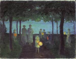 """Abend an der Ostsee"" (Evening at the Baltic Sea) by Ernst Oppler"