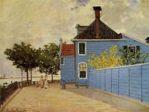 Monet: Das blaue Haus in Zaandam (wikimedia)
