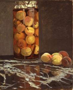 Claude Monet. Das Pfirsichglas. Öl/Leinwand, 55,5 x 46 cm. Galerie Neue Meister, Galerienummer: 2525 B. Veröffentlichung nur mit Genehmigung und Quellenangabe. (wikimedia)