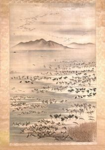 A bevy of waterfowl by Mori Tetsuzan (wikimedia). May we all have a bevy of recognizable fowl.
