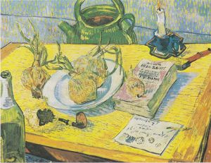 Vincent's Still Life with Drawing Board, Pipe, Onions and Sealing-Wax (wikimedia)